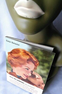VINTAGE Miss Clairol Color Selector Book/Booklet-Cosmetologist-Retro-Ginger-Hair