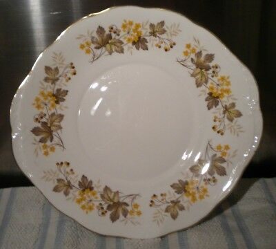 Royal Vale Vintage Bone China Cake Plate Autumn Leaves