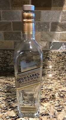 JOHNNIE WALKER GOLD LABEL RESERVE Scotch Whiskey EMPTY Bottle   -  1 LITER