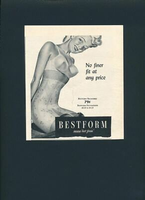 1944 Magazine Print Ad~Bestform~Bra~Bra~Girdle~Garter~Pin Up Style~Sexy~S550