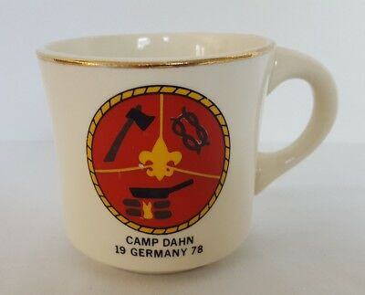 Vintage 1978 Boy Scouts Camp Dahn Germany Coffe Mug- Tea Cup- 9oz