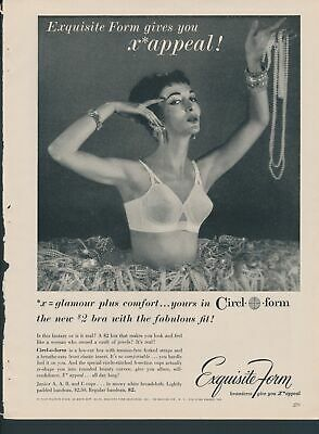 Print Ad~Vintage~1950s~Circl-o-form~Exquisite Form~Jewels~Jewelry~Fashion~F200