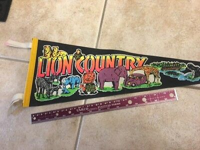 Lion Country Safari Pennant With VW On It