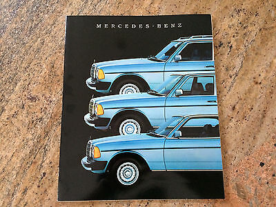 1984 W123 MERCEDES 300D 300TD 300CD Brochure with technical specifications