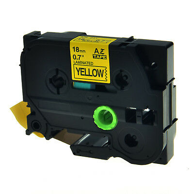 Black on Yellow Label Tape For Brother TZe-641 TZ-641 PT-D600  P-touch 18mm 8m