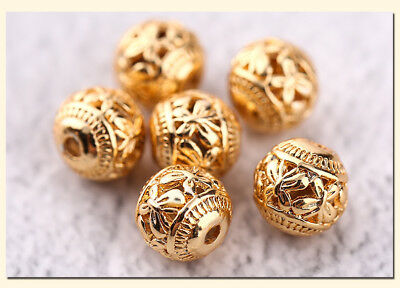 10Pcs Charms Interval Spacer Beads Metal Accessories Jewelry Making DIY HH3716