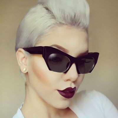 Men Women Retro Sunglasses Unisex Fashion Sliced Cat Eye Glasses Eyewear New
