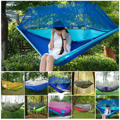 Camping Double Person Travel Outdoor Tent Hanging Hammock Bed With Mosquito Net#
