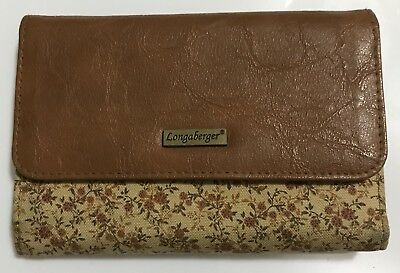 "EUC, LONGABERGER ""FALL VINTAGE"" FLORAL WALLET, 5.75"" Wide"