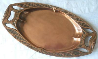 Antique Arts & Crafts J.s. & S. Joseph Sankey England Copper Serving Tray Dish