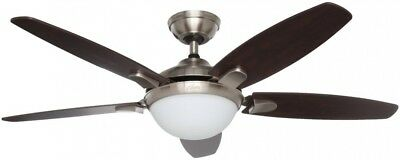 Hunter Contempo Ceiling Fan 52 Inch Indoor Brushed Nickel With Universal Remote