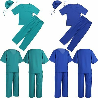49e1cb3877f Children Doctor Surgeon Costume Toddler Kid Doctor Dress up Halloween Scrubs  Set