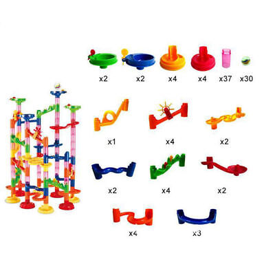 Marble Run Race Construction Maze Ball 3D Track DIY Building Block Toy kids Gift