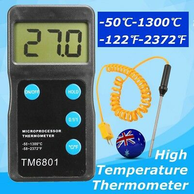 -50-1300℃ High Temperature Thermometer Pyrometer for Kiln Pottery Glass Ceramic