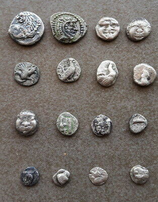 Ancient Greek - Lot of 16 silver coins struck in Macedon and Thrace 470-300 BC