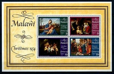 Malawi - 1974 - Christmas - Nativity - Holy Family - Shepherds + Mint S/sheet!