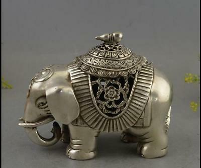 Fine Chinese Bronze Copper silvering Elephant