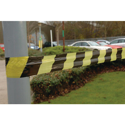 VFM Black /Yellow Striped Tape Barrier 500m 304927