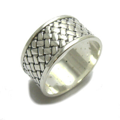 WIDE STERLING SILVER RING SOLID 925 BAND SIZE 4-13 EMPRESS R001226 Fine Rings Precious Metal without Stones