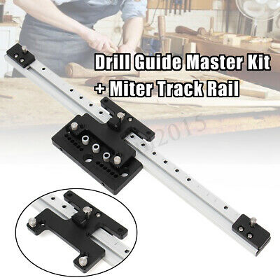 Woodworking Plus Doweling Jig Joint Drill Guide Master + Miter Track Rail guide