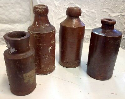 Antique Stoneware Brown Bottles/jars Inclu: Doulton, Denby & Dive Finds