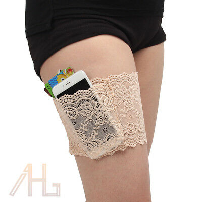 1 Pair Anti-Chafing Thigh Pocket Bands Women Stylish Non-slip Lace Elastic Sock