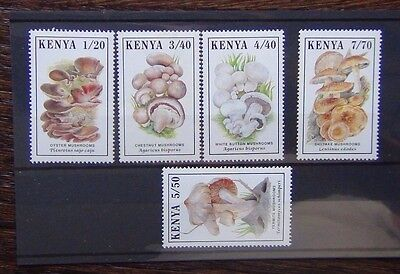 Kenya 1989 Mushrooms set MNH