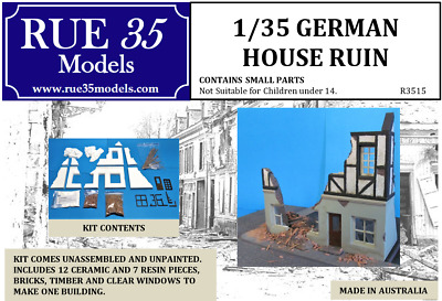 1/35 German House Ruin Diorama Accessory