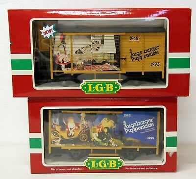LGB 42260&44353 'Augsburg Puppenkiste' Animated Cars -Rare-Like New in Boxes
