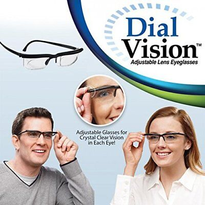 Strength Lens Reading Glasses Eyewear Variable Focus Dial Vision Zoom Adjustable
