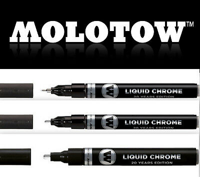 MOLOTOW LIQUID CHROME Pump Marker Einzelstifte + Set 1mm, 2mm, 4mm *!bestprice!*