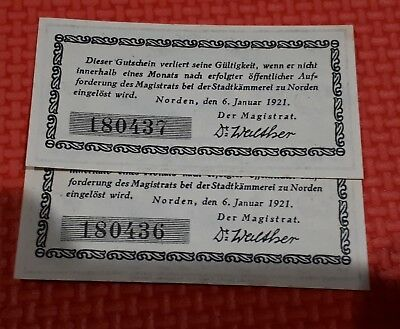 Germany banknote 1921 consecutive