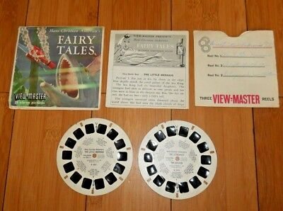 Hans Christian Andersen's Fairy Tales 1958 Viewmaster Reels B305 & Booklet  A699