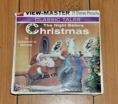 * Sealed Mint * The Night Before Christmas Viewmaster Reels B382 1958 Rare  B146