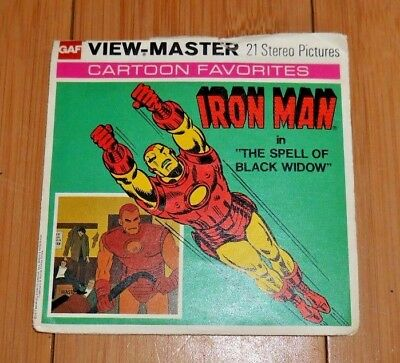 Iron Man The Spell Of Black Widow Viewmaster Reels H44 Vintage 1977 Rare   A189