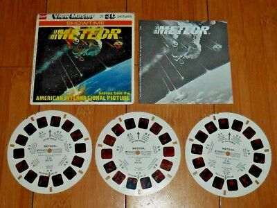Meteor Movie Gaf Viewmaster Reels 1979 Set K46 - Rare Excellent Condition   A362