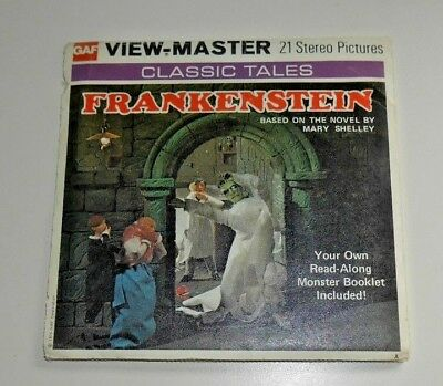 Vintage Frankenstein Mary Shelley Viewmaster Reels 1976 Rare B323   A844