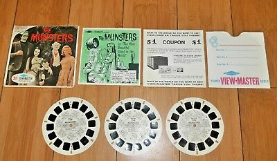 The Munsters Viewmaster Reels 1966 Complete Set B481 Very Rare   B162