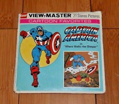 Captain America In Where Walks The Sleeper Viewmaster Reels H43 1977 Rare   A190
