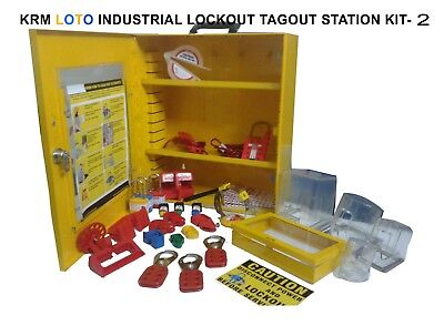 Krm Loto - Industrial Lockout Tagout Station Kit 2