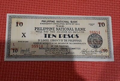 Philippines 1941 emergency currency