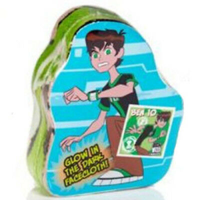 Brand New Ben 10 Glow In The Dark Magic Face Cloth Ben 10 Design Ages 3 Years+