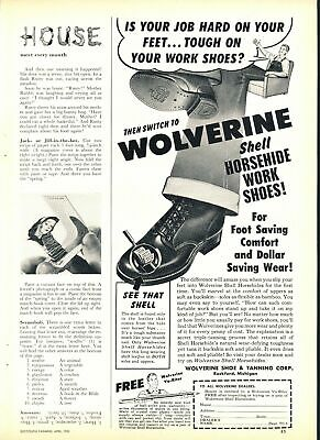 Print Ad~1951~Wolverine~Horsehide Work Shoes~Shell~F400