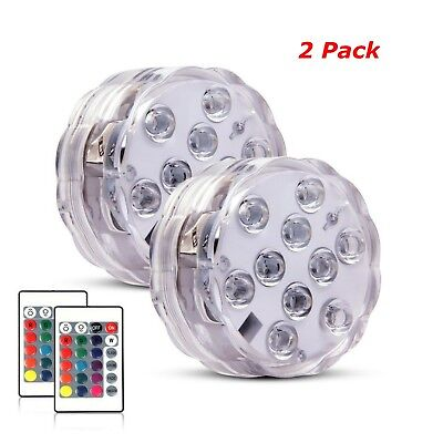 Spa Swimming Pool Light RGB LED Bulb Remote Control Underwater Color Vase Decor