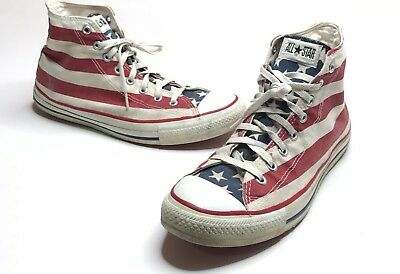 8907a7ba5f8 VTG 80s-90s Converse All Star Shoe Men 10.5 Chuck Taylor American Flag USA  MADE