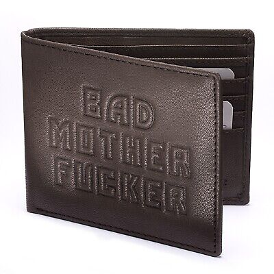 BAD MOTHER FU*KER wallet - three colours - 100% Leather & FREE GIFTS