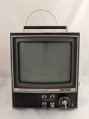 Vintage 1970's Sony Trinitron Color tv KV-9000U for parts or repair.
