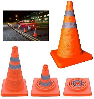 Pop Up Safety Cones Collapsible Pull Out Emergency Accident Traffic Road Cones