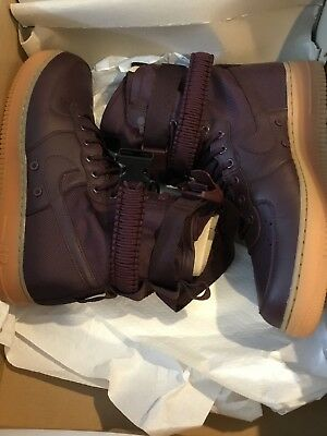 online store ce5c8 95c43 SF Special Field Nike Air Force 1 Mens Size 11 Deep Burgundy 864024 600