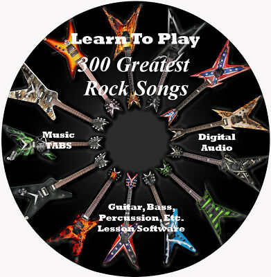 300 Greatest Rock Songs Guitar Tabs Software Lesson CD + BONUS